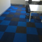 Dark royal blue carpet tiles
