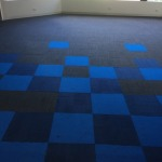 blue and black carpet tiles