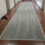 Timber floor with carpet insert